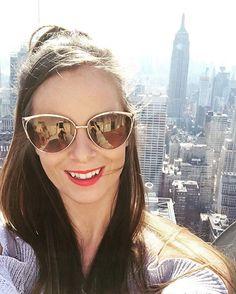 "She Prevails on Instagram: ""Helllloo New York #nyc #newyork #topoftherock #empirestatebuilding #style #travel #irishblogs #nyblogs #ShePrevailsNYC"" Cat Eye Sunglasses, Sunglasses Women, Empire State Building, Nyc, New York, Instagram Posts, Travel, Style, Fashion"