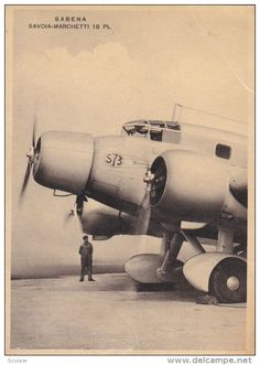 Sabena Savoia-Marchetti 18 PL Airplane , 1930s - Delcampe.com