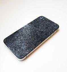 DIY Glitter iPhone Skin by Hippanonymous