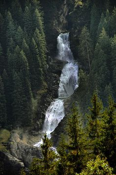 Krimmler Wasserfälle (Austria). 'No doubt you'll hear the thunderous roar of the 380m-high Krimmler Wasserfälle, Europe's highest waterfall, before you see it. As with all natural wonders, this one looks best from certain angles, namely from the Wasserfallweg (Waterfall Trail).' http://www.lonelyplanet.com/austria