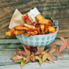 Pumpkin fries caramelised with dark muscovado sugar and rubbed in coconut. A vegetable treat for Fall days.
