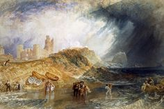 Joseph Mallord William Turner 'Holy Island, Northumberland', - Watercolour on paper - Dimensions Support: 292 x 433 mm - © Victoria and Albert Museum Joseph Mallord William Turner, Covent Garden, Art Romantique, Turner Watercolors, Turner Painting, English Romantic, English Artists, British Artists, Royal Academy Of Arts
