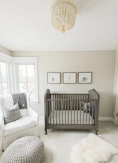 Nursery Paint Colors, Baby Room Colors, Baby Nursery Neutral, Nursery Gray, Bedroom Colors, Bedroom Neutral, Nursery Twins, Neutral Nurseries, Nursery Room