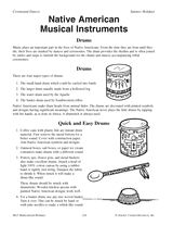 Wolf Elective 10b....Native American Musical Instruments Printable (K - 5th Grade) - TeacherVision.com