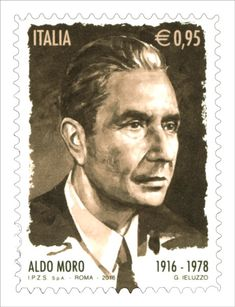 Francobollo commemorativo di Aldo Moro, nel centenario della nascita