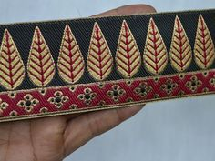Wholesale Indian Jacquard Ribbon Trim Sari Border Decorative Crafting Ribbon Jacquard Trim By 9 Yard Jacquard Sewing Trimming You can purchase from what's Aap no. Diy Belts, Indian Bridal Outfits, Fashion Tape, Ribbon Crafts, Sewing Stores, Pattern Art, Handicraft, Hand Sewing, Printing On Fabric