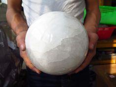 8925g RARE NATURAL white clear QUARTZ CRYSTAL sphere ball &MZD1