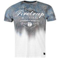 Firetrap | Firetrap Slick Logo T Shirt Mens | Mens T Shirts