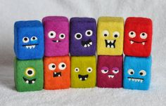 One Eyed, One Horned, Flying Purple People Eater by Karen on Etsy. My Patrick the sweater monster softie is in this treasury of Maine monsters! :D