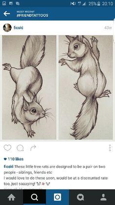 Matching tree rats / squirrels. Sooo cute More