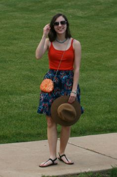 Graceful Rags | Complementary | Orange and navy