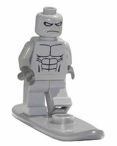 """Silver Surfer Comic Book Superhero with Surfboard Accessory 