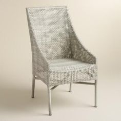** Save this Rustic Grey All Climate Wicker Serasa Eating Chairs Set of two Learn more at  http://www.worldmarket.com/product/rustic-gray-all-weather-wicker-serasa-dining-chairs-set-of-2.do