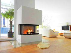 →ATRE DESIGN - Spécialiste des cheminées et poêles dans le Var - 83 Foyer insert bois pour votre cheminée angle