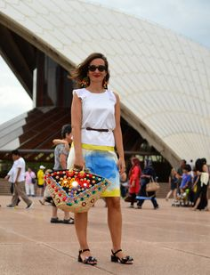 Sicily Bag Gigi in Sydney. Bringing some Sicilian flair to down under. All Sicily Bags are handcrafted by a local artisan in Sicily.
