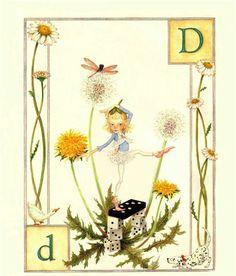 D...Dance...Daisy...Domino...Duck... Dog... by Lauren Mills Elfabet