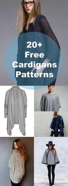 20 + gratis mönster för koftor och tröjor | Gratis symönster och Tutorials: