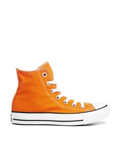 Converse All Star Orange High Top Trainers - sale