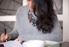 necklace w/geometric rhinestones from Zara