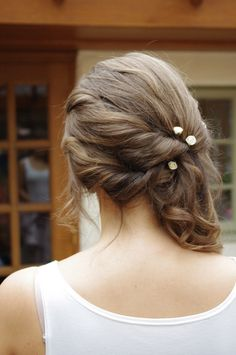 Trendy wedding hairstyles for bridesmaids side curls hairdos Wedding Hairstyles For Long Hair, Fancy Hairstyles, Down Hairstyles, Bridesmaid Side Hairstyles, Hairstyles 2016, Updo Hairstyle, Latest Hairstyles, Bridesmaid Hair To The Side, Simple Hairstyles