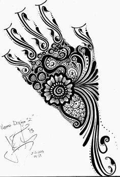 Full hand henna design by JJShaver.deviantart.com on @deviantART