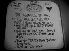 Since when does a number tell us our self worth. It's so sad how obsessed women are with weight and appearance. The thought is we have to fit into what some people deem attractive. The differences make a person less valuable.