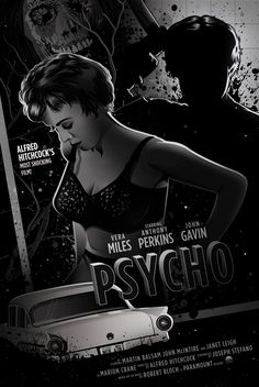 Psycho by Dave Stafford - Home of the Alternative Movie Poster -AMP-