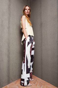 Derek Lam 10 Crosby Pre-Fall 2015 Fashion Show - Kat Hessen