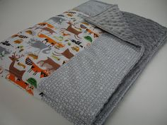 Rustic Forest Minky Baby Blanket 30 x 30 MADE TO by KBExquisites, $36.00
