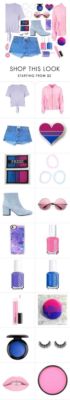 """Anything it takes to make you stay~"" by xblackcatmidnightx ❤ liked on Polyvore featuring Boohoo, American Apparel, Hot Topic, Stuart Weitzman, Casetify, Essie, MAC Cosmetics, Mehron and pride"