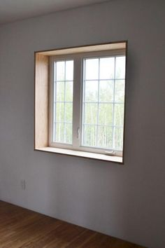 Window trim and baseboard style but stained not white for Window jamb design