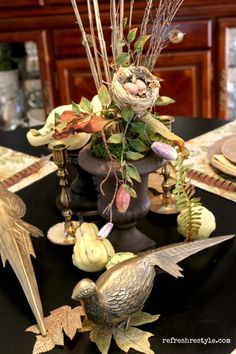 Pheasant Fall Tablescape - Welcome to reFresh reStyle!