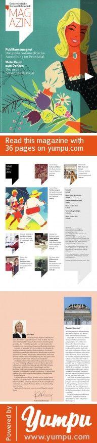 Österreichische Nationalbibliothek Magazin - Nr. 1 - Mai 2012 - Magazine with 36 pages: Buch, Kultur, Meseum, Ausstellung, Forschungslesesaal, Willkommen in Österreich