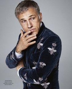 Male Fashion Trends: Christoph Waltz para ICON Magazine Septiembre 2015 por Michael Schwartz