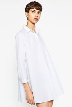 Discover the new ZARA collection online. Fall Fashion 2016, Autumn Fashion, Zara Dresses, Fashion Dresses, Zara 2016, Mode Zara, Vestidos Zara, Poplin Dress, Zara Fashion