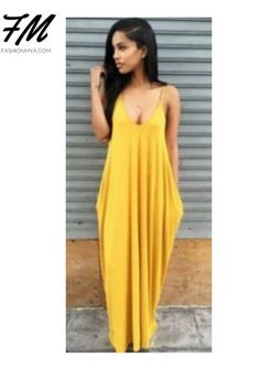 Look Trendy This Summer in Comfortable and Casual Women Yellow Sexy Deep V Neck Pocket Spaghetti Strap Maxi Dress- Available In Multiple Colors #dresses #dressesinstyle #womensfashiondresse #fashionwomen dress #ladiesdresses #dresseswomens #womendressesclassy #womendressescasual #outfitswomendresses #longdresses #pocketeddresses #elegantdresses #shoponline #shopping #womensonlineshopping #fashiononlineshopping #shoppingwebsites #shoppingideas #clothingonlineshopping #boutiqueshop