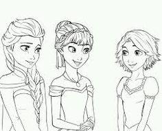 Bildergebnis Fur Ausmalbilder Anna Und Elsa