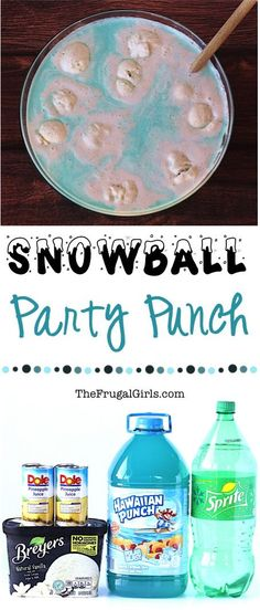 Snowball Party Punch Recipe created in partnership with Norm of the North Movie! This EASY Polar Blast Blue Punch is the perfect addition to your winter parties!! #NormOfTheNorth #ad TheFrugalGirls.com