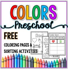 Free Color Activities - Coloring Pages & Sorting - Mrs. Thompson's Treasures