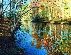 Painting - Golden Reflections by Sergey Zhiboedov