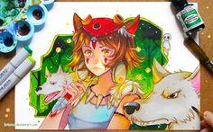 Princess Mononoke - Fireflies by larienne