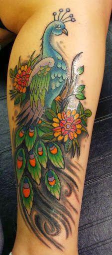peacock tattoo | Peacock Tattoo On Leg