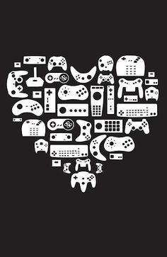 Stunning Controller Lover White on Black by pinksage