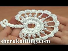How to Crochet Round Leaf Tutorial 36 - YouTube