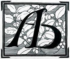 '' Desenho '' (1902) - ARTE BRASILEIRA – Estudo para logomarca, nanquim e papel.