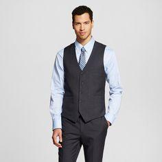 Men's Big & Tall Suit Vest Charcoal Gray