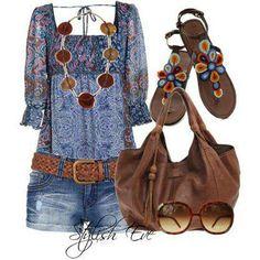 Boho chic style!!    Discover more at: Stylish Guru