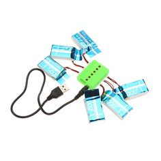 Super Fly Sets X6 Charger with 6Pcs 3.7V 600mAh Lipo Battery for Syma X5 X5A X5C JJRC H5C RC Quadcopter