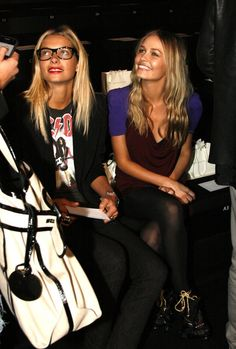 Jessica Hart and Lara Bingle