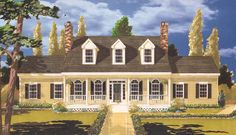 Southern Country 5 bedrooms House Plan - 6992